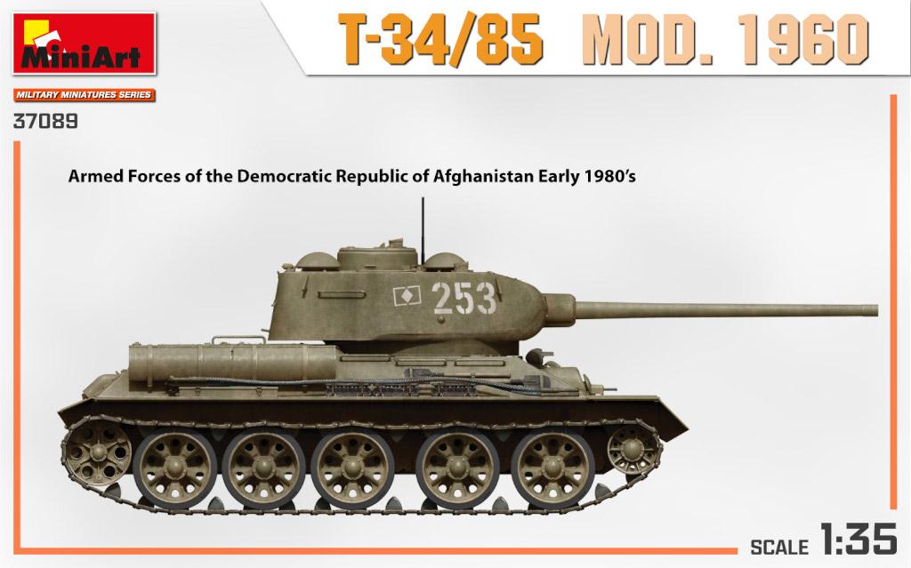 37089_side-views4-04 Ankündigung: T-34/85 MOD. 1960 1:35 Miniart (#37089)