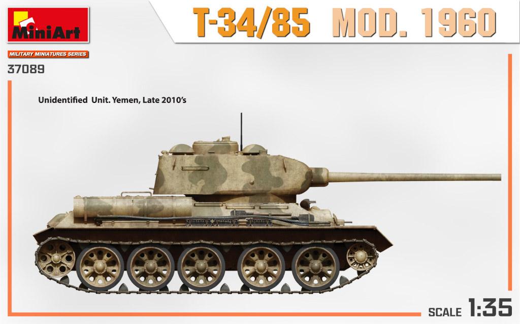 37089_side-views4-05 Ankündigung: T-34/85 MOD. 1960 1:35 Miniart (#37089)