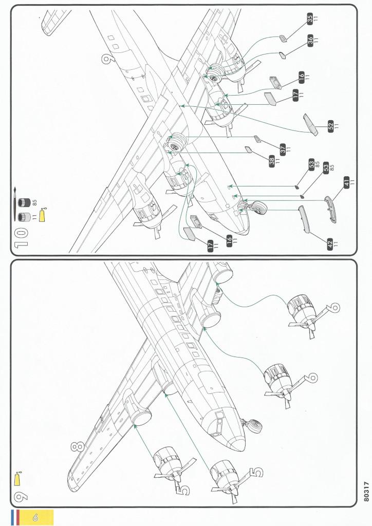 Anleitung06-1 Douglas C-118 Liftmaster 1:72 Heller (#80317)
