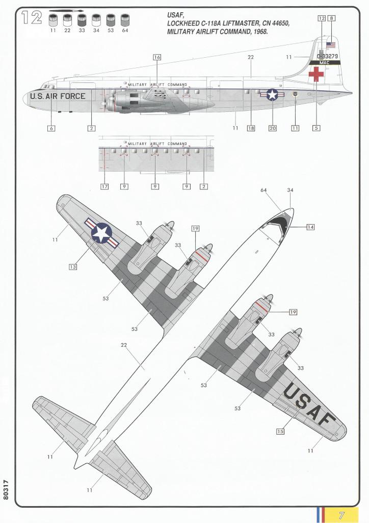 Anleitung07-1 Douglas C-118 Liftmaster 1:72 Heller (#80317)