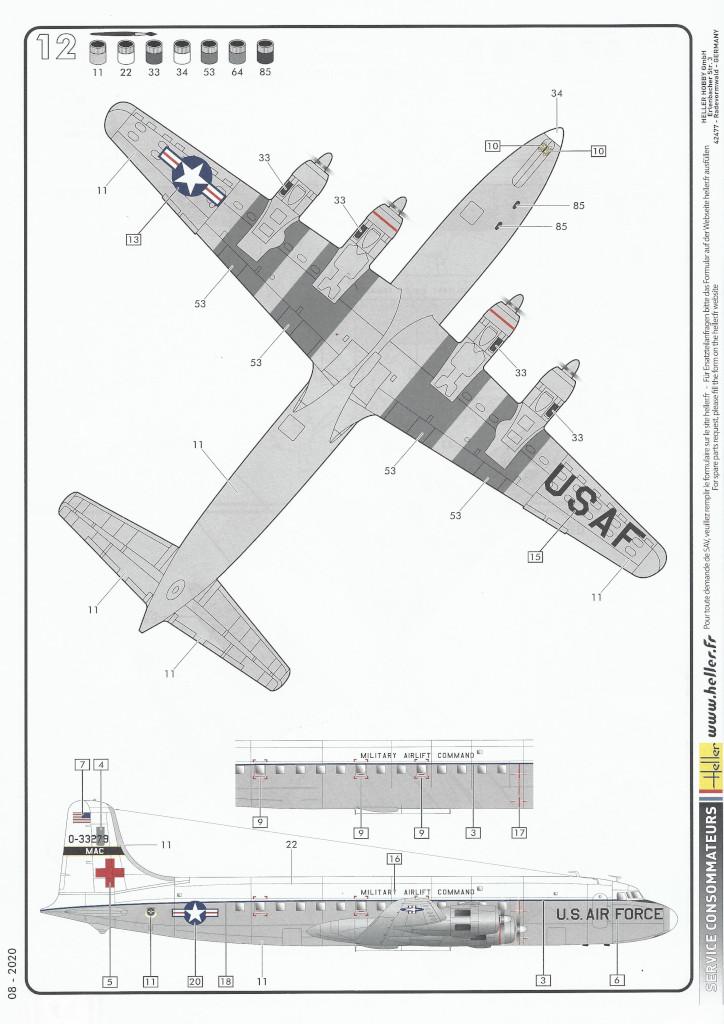 Anleitung08-1 Douglas C-118 Liftmaster 1:72 Heller (#80317)