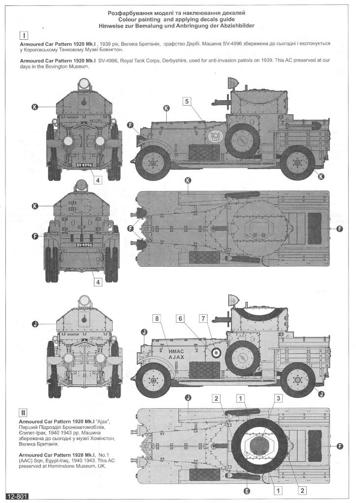 Anleitung12 WW II British Armoured Car (Pattern 1920 Mk I)