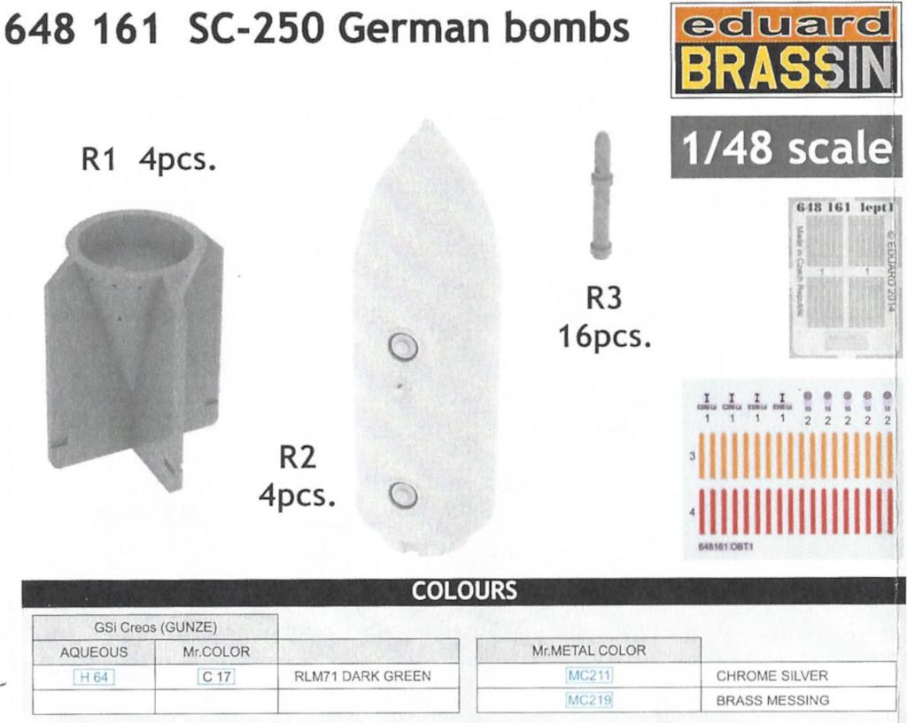 Anleitung2-1 SC-250 German Bombs 1:48 Eduard (#648 161)