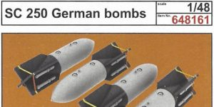 SC-250 German Bombs 1:48 Eduard (#648 161)