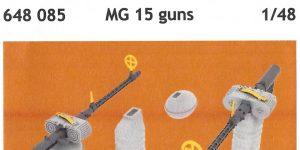 MG 15 guns (2pcs) 1:48 Eduard (#648 085)