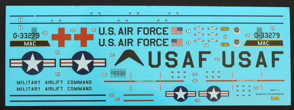 Decals-1 Douglas C-118 Liftmaster 1:72 Heller (#80317)