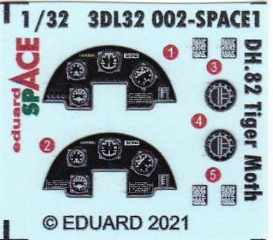 Eduard-3DL32002-DH.82A-Tiger-Moth-SPACE-4 Eduard-Zubehör für die Tiger Moth in 1:32 von ICM