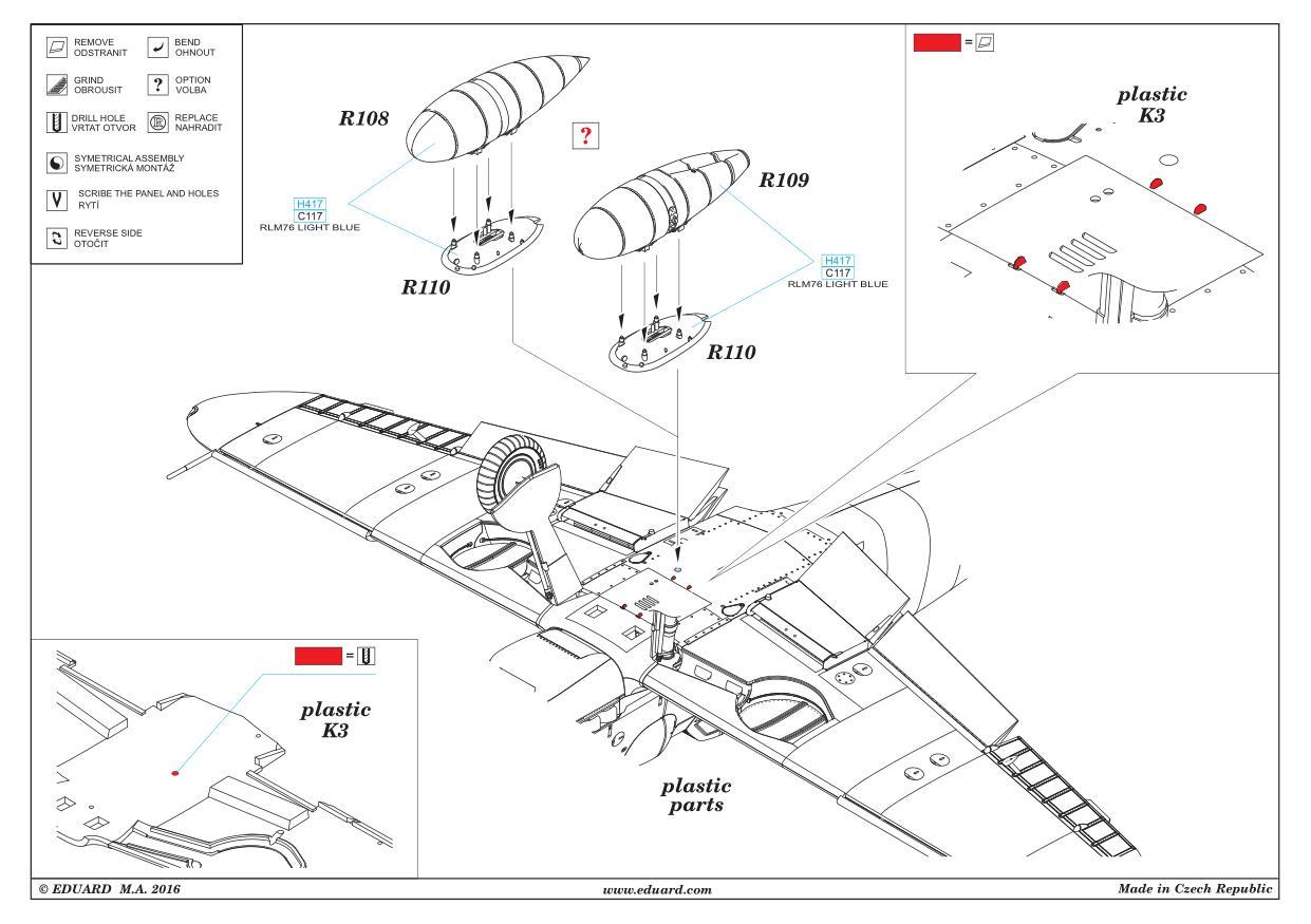 Eduard-648265-Bf-109-G-External-Fuel-tanks-2 Bf 109 G external fuel tanks in 1:48 von Eduard #648265