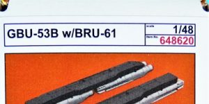 GBU-53 Bomben mit dem BRU-61 Träger von Eduard in 1:48 #648620