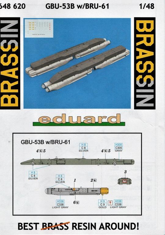 Eduard-648620-GBU-53-16 GBU-53 Bomben mit dem BRU-61 Träger von Eduard in 1:48 #648620