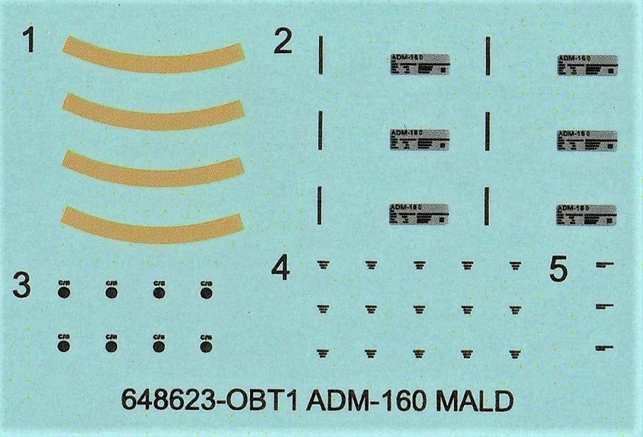 Eduard-648623-ADM-160-MALD-11 MALD-160 Täusch-/Köderrakete von Eduard in 1:48 #648623