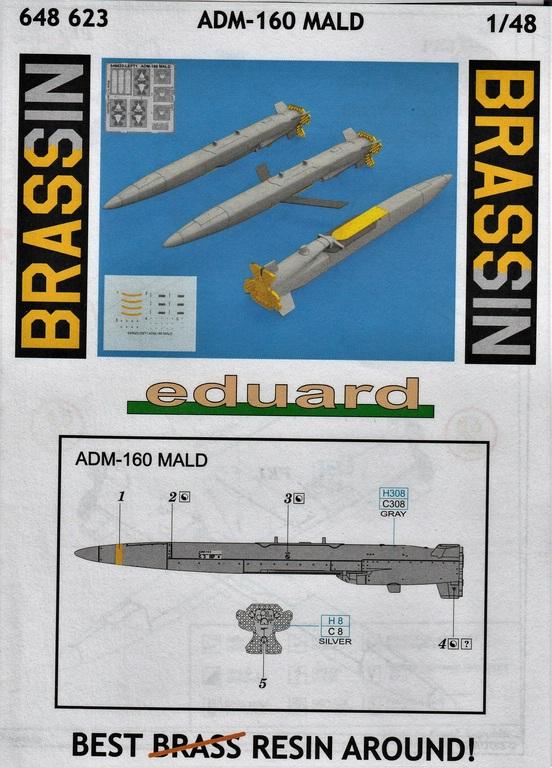 Eduard-648623-ADM-160-MALD-14 MALD-160 Täusch-/Köderrakete von Eduard in 1:48 #648623