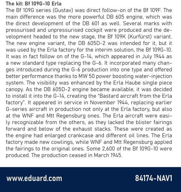 Eduard-84174-Bf-109-G-10-Erla-Bauanleitung-1-Kopie Messerschmitt Bf 109 G-10 Erla in 1:48 von Eduard # 84174