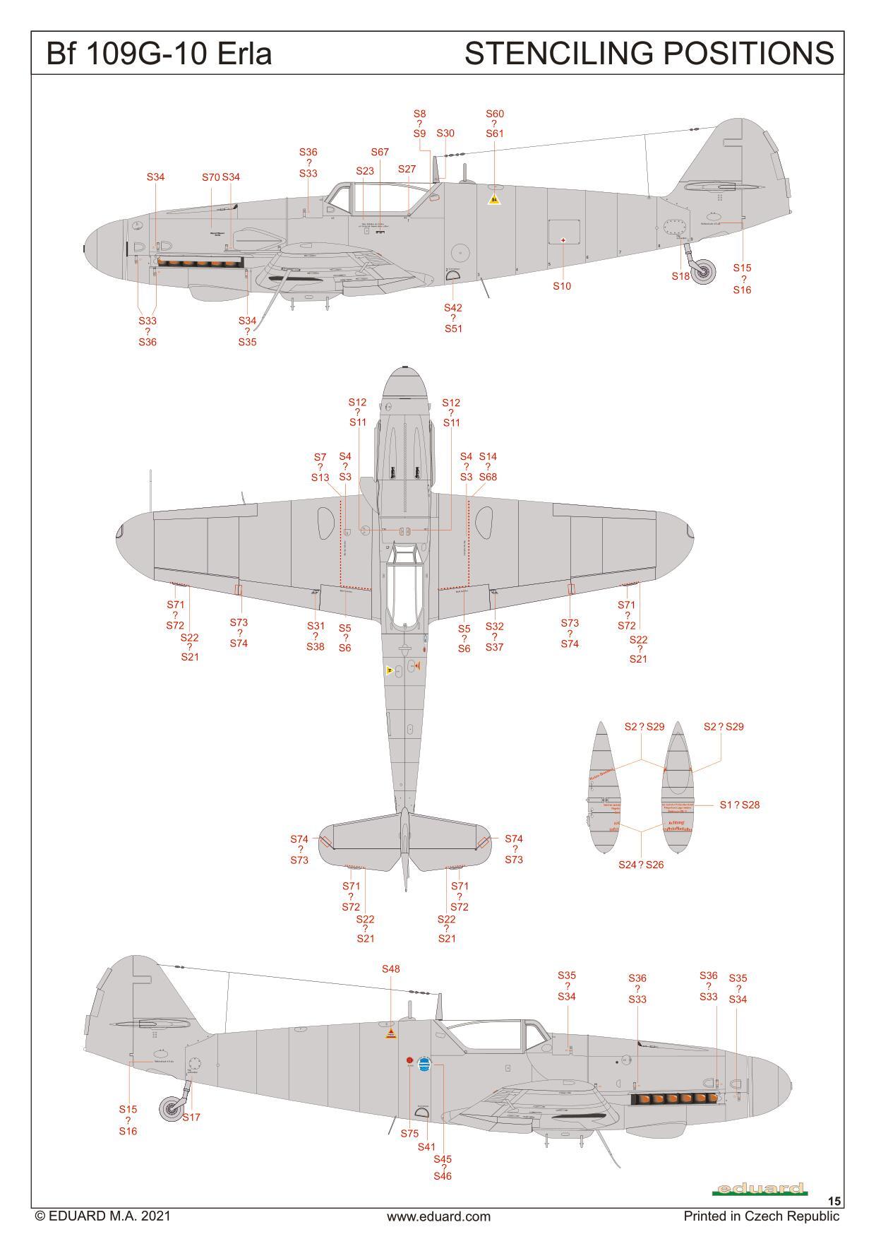 Eduard-84174-Bf-109-G-10-Erla-Bauanleitung-15 Messerschmitt Bf 109 G-10 Erla in 1:48 von Eduard # 84174