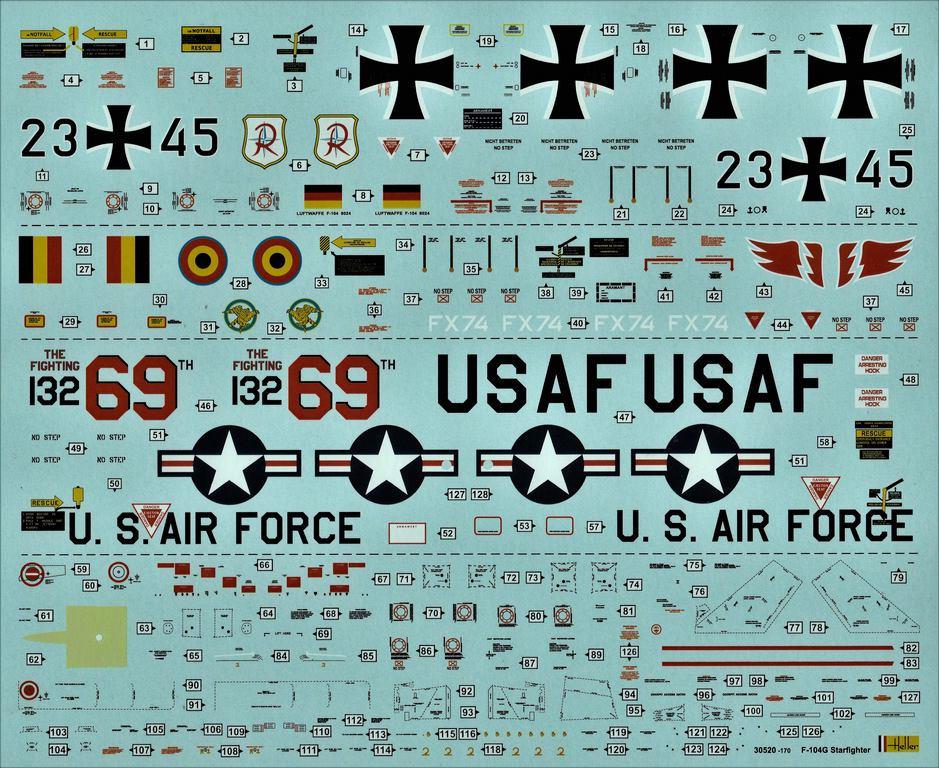 Heller-30520-F-104G-Starfighter-in-1-48-16 F-104G Starfighter von Heller in 1:48 #30520