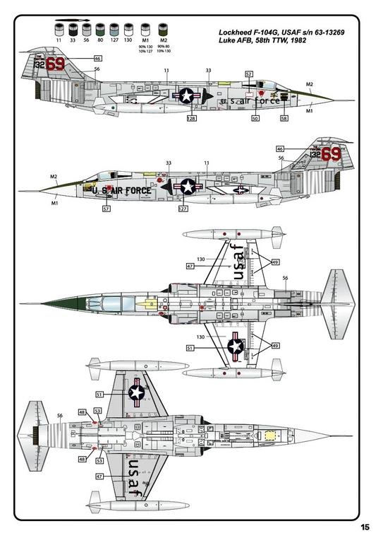Heller-30520-F-104G-Starfighter-in-1-48-30 F-104G Starfighter von Heller in 1:48 #30520