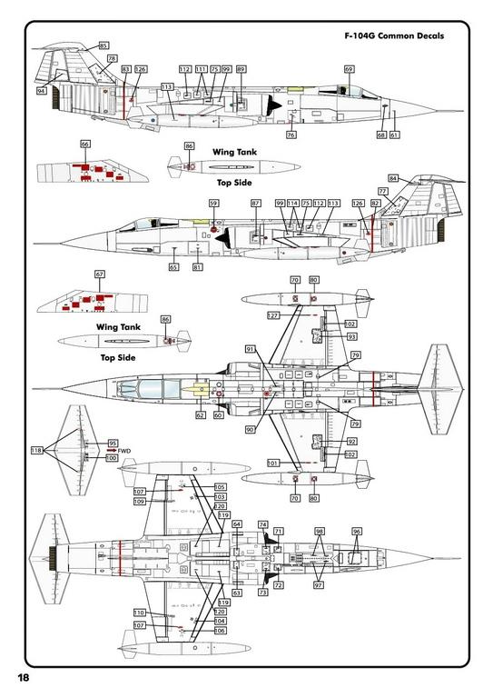 Heller-30520-F-104G-Starfighter-in-1-48-33 F-104G Starfighter von Heller in 1:48 #30520
