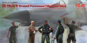 US Pilots and Ground Personnel Vietnam in 1:48 von ICM #48087