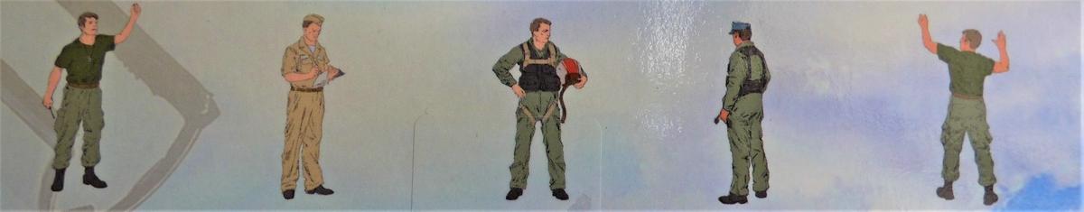 ICM-48087-US-Pilots-Vietnam-2 US Pilots and Ground Personnel Vietnam in 1:48 von ICM #48087