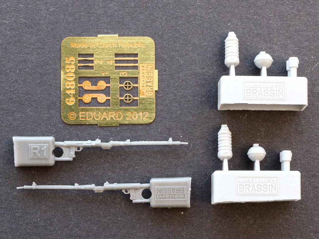 Parts MG 15 guns (2pcs) 1:48 Eduard (#648 085)