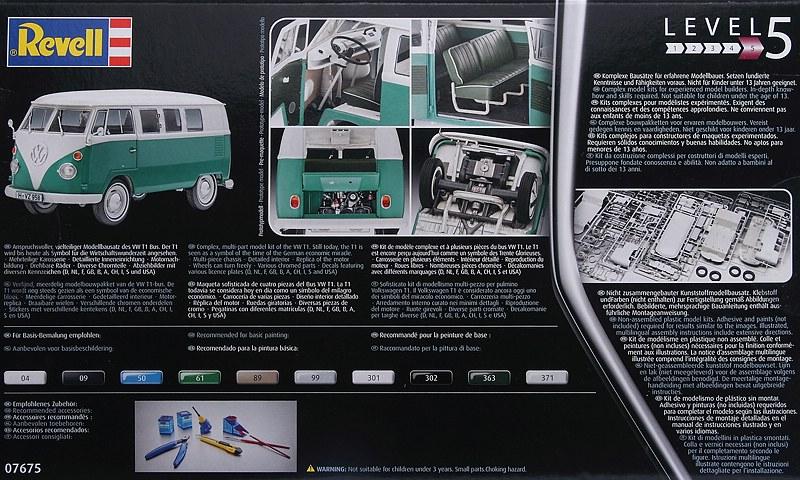 Revell-07675-VW-Bus-T1-2 VW T1 in 1:24 von Revell #07675