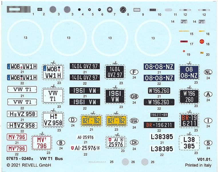 Revell-07675-VW-Bus-T1-21 VW T1 in 1:24 von Revell #07675