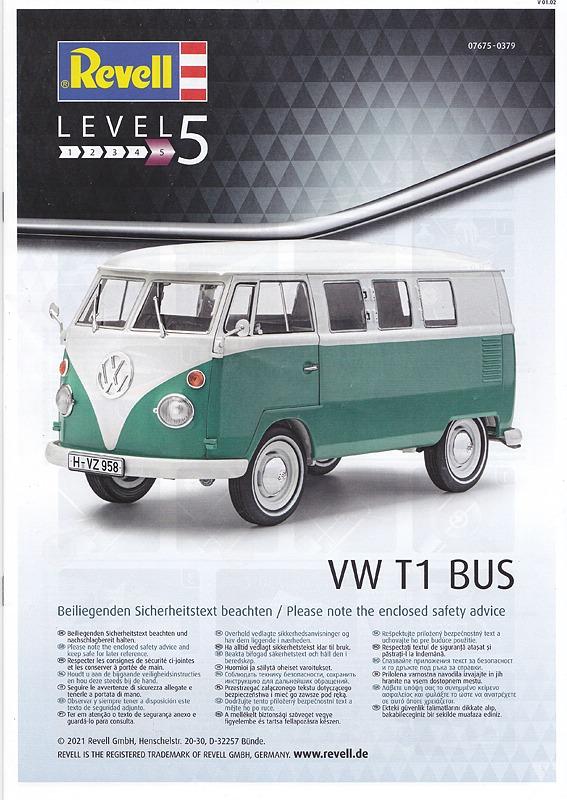 Revell-07675-VW-Bus-T1-23 VW T1 in 1:24 von Revell #07675