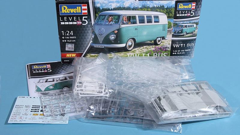 Revell-07675-VW-Bus-T1-3 VW T1 in 1:24 von Revell #07675
