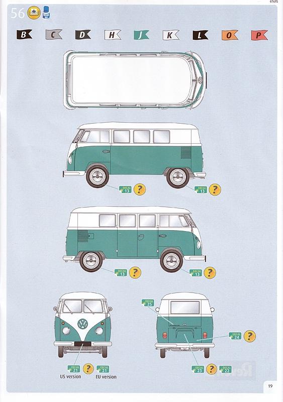 Revell-07675-VW-Bus-T1-36 VW T1 in 1:24 von Revell #07675