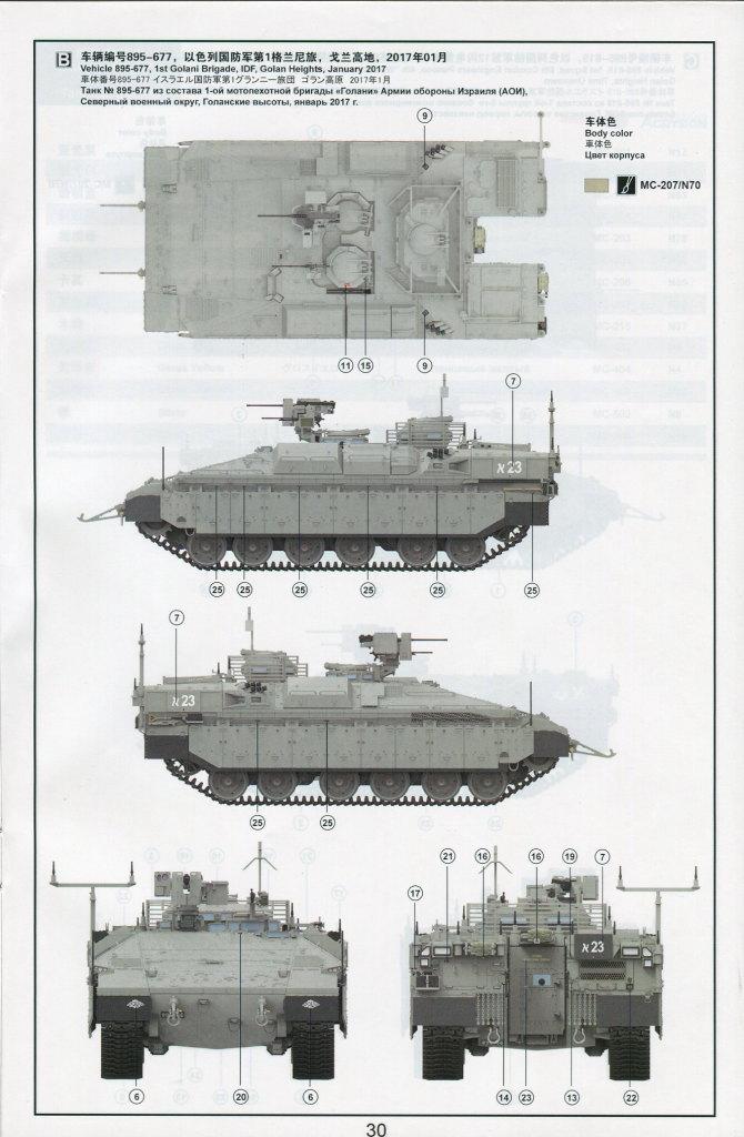 """Review_Meng_Namer_77 israeli heavy armoured personnel carrier """"NAMER"""" - Meng 1/35"""