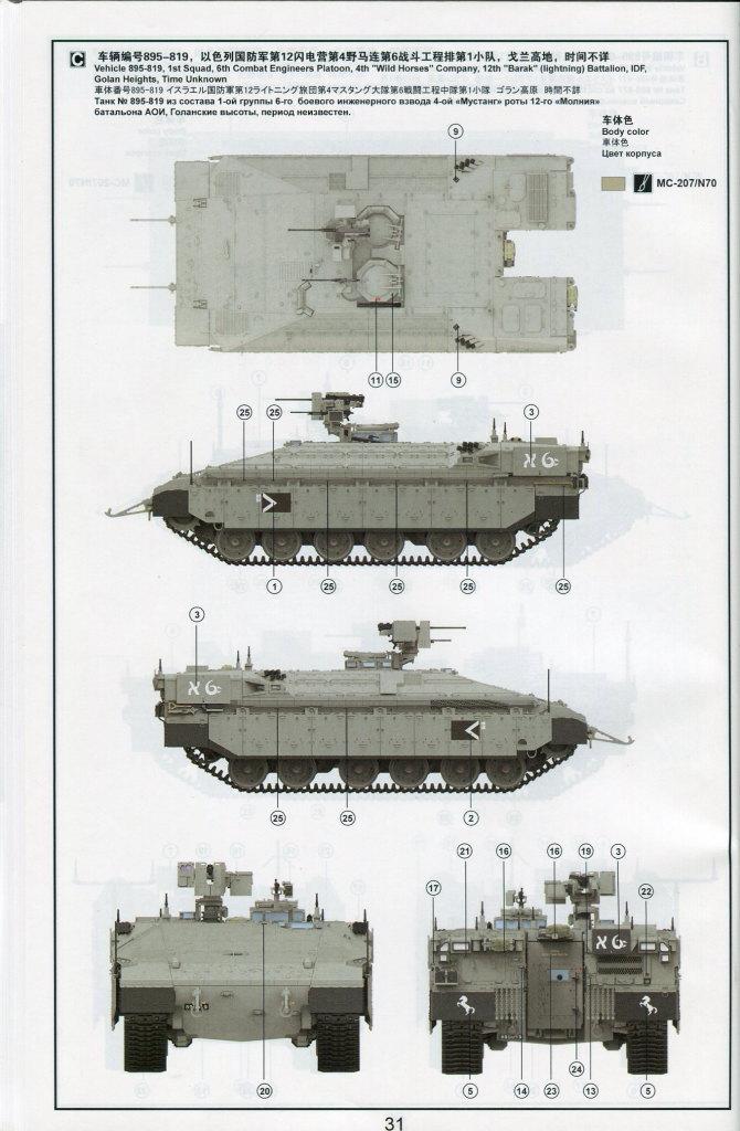 """Review_Meng_Namer_78 israeli heavy armoured personnel carrier """"NAMER"""" - Meng 1/35"""