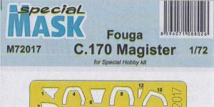 Masken für die Fouga Magister in 1:72 von Special Hobby # M72017