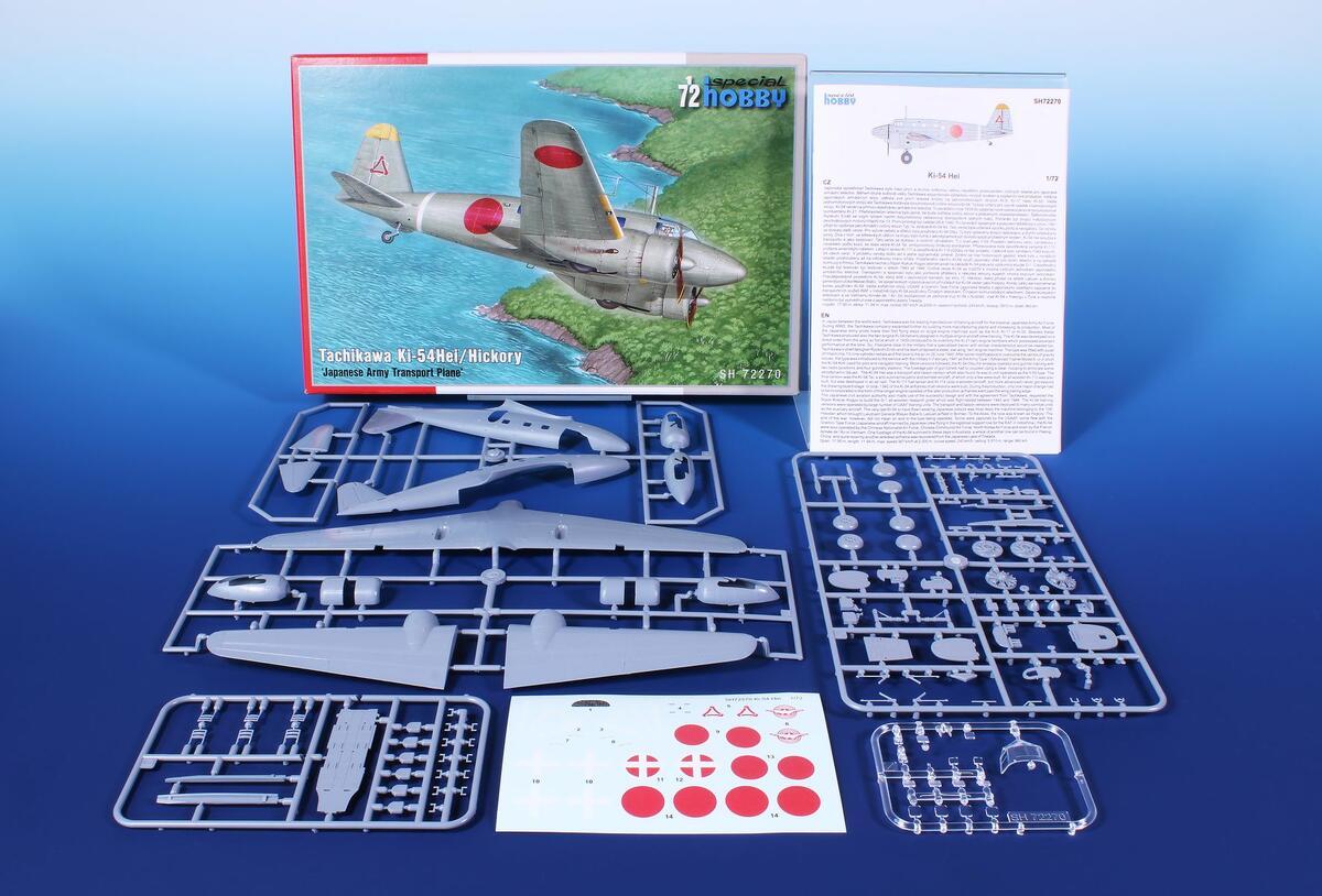 """Special-Hobby-SH-72270-Tachikawa-Ki.54-Hei-Hickory-9 Tachikawa Ki-54Hei """"Hickory"""" in 1:72 von Special Hobby #72270"""