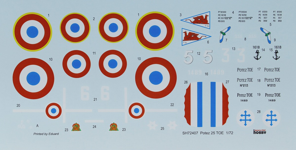 Special-Hobby-SH-72407-Potez-25TOE-33 Potez 25 TOE in 1:72 von Special Hobby # 72407
