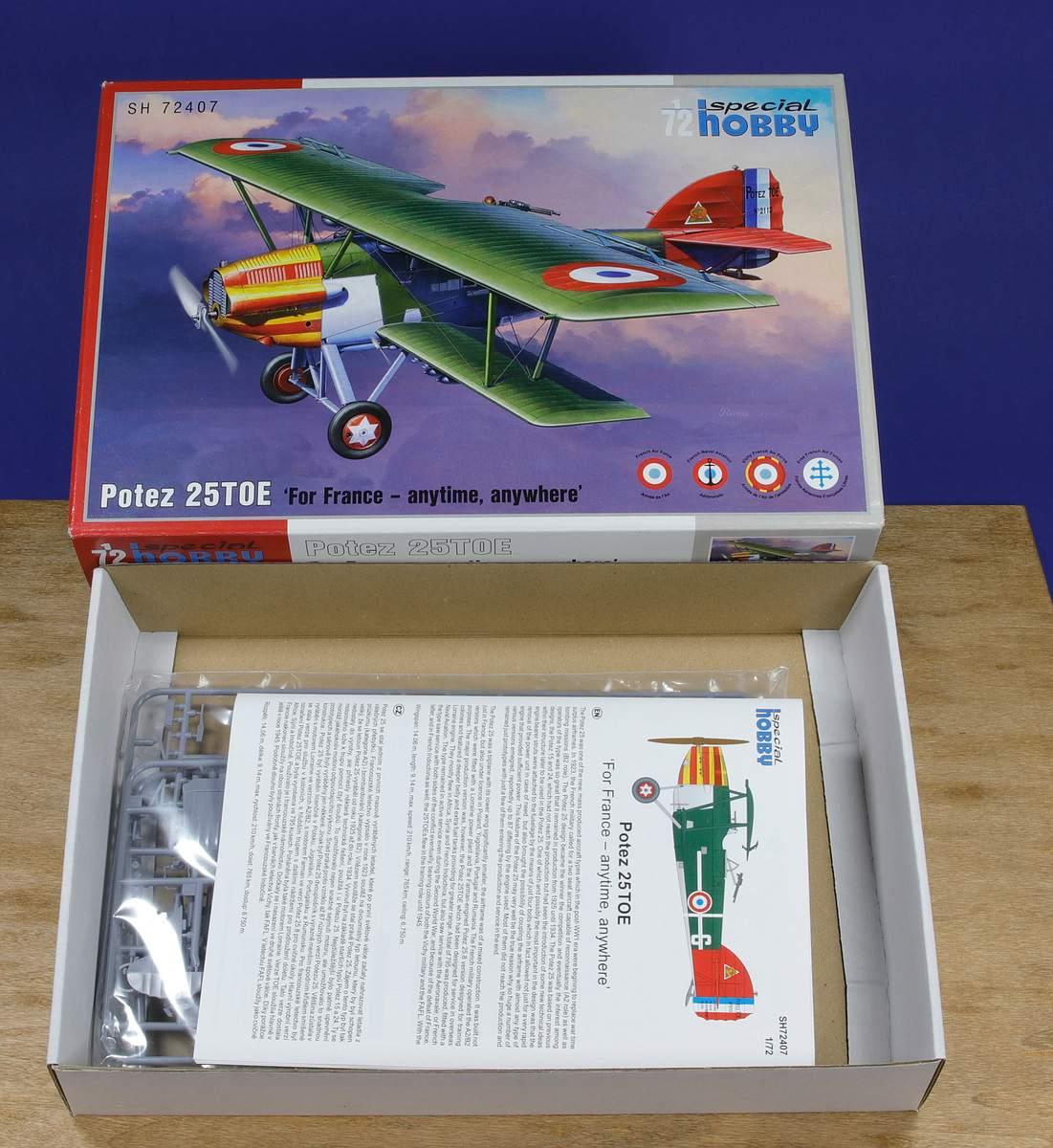 Special-Hobby-SH-72407-Potez-25TOE-37 Potez 25 TOE in 1:72 von Special Hobby # 72407