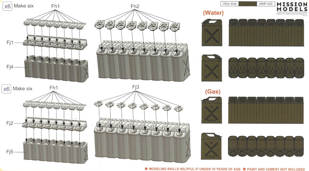 Anleitung WWII US 20L Jerry Can Set 1:35 Gecko Models (#35GM0036)