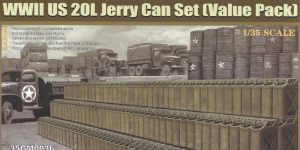 WWII US 20L Jerry Can Set 1:35 Gecko Models (#35GM0036)