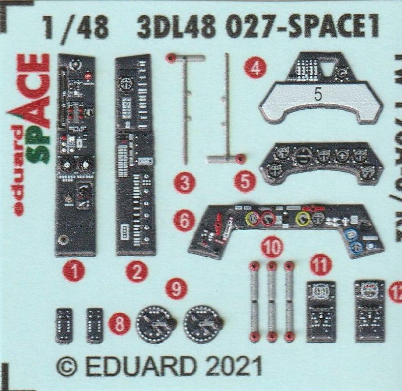 Eduard-3DL48027-Fw-190-A8-R2-Space-3 FW 190 A-8/R2 Detailset SPACE in 1:48 von Eduard # 3DL48027