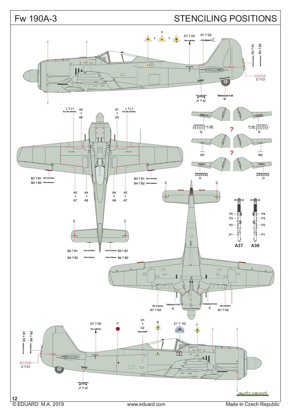 Eduard-84112-FW-190-A-3-WEEKEND-32 FW 190 A-3 in 1:48 als WEEKEND-kit von Eduard # 84112