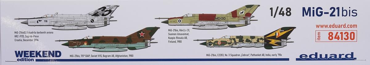 Eduard-84130-MiG-21-Bis-WEEKEND-2 MiG-21 Bis WEEKEND in 1:48 von Eduard #84130
