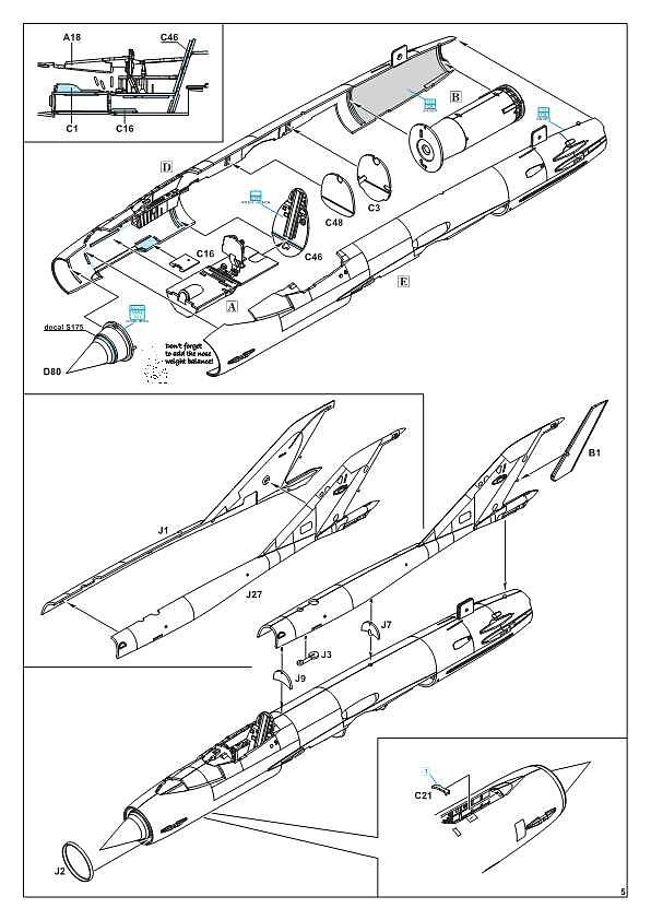 Eduard-84130-MiG-21-Bis-WEEKEND-8 MiG-21 Bis WEEKEND in 1:48 von Eduard #84130
