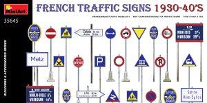 French Traffic Signs in 1:35 von MiniArt # 35645