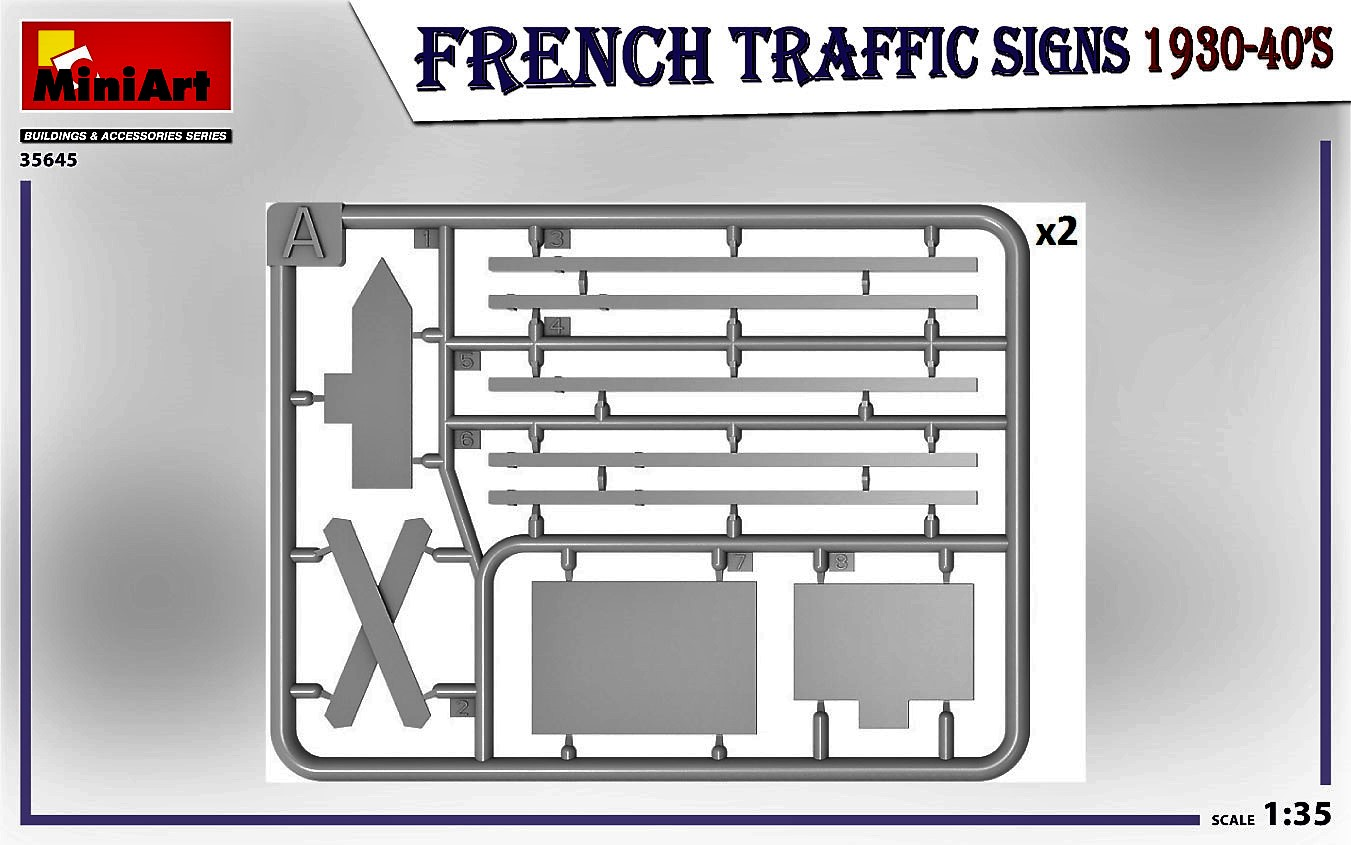 MIniArt-35645-FRench-TRaffic-signs-3 French Traffic Signs in 1:35 von MiniArt # 35645