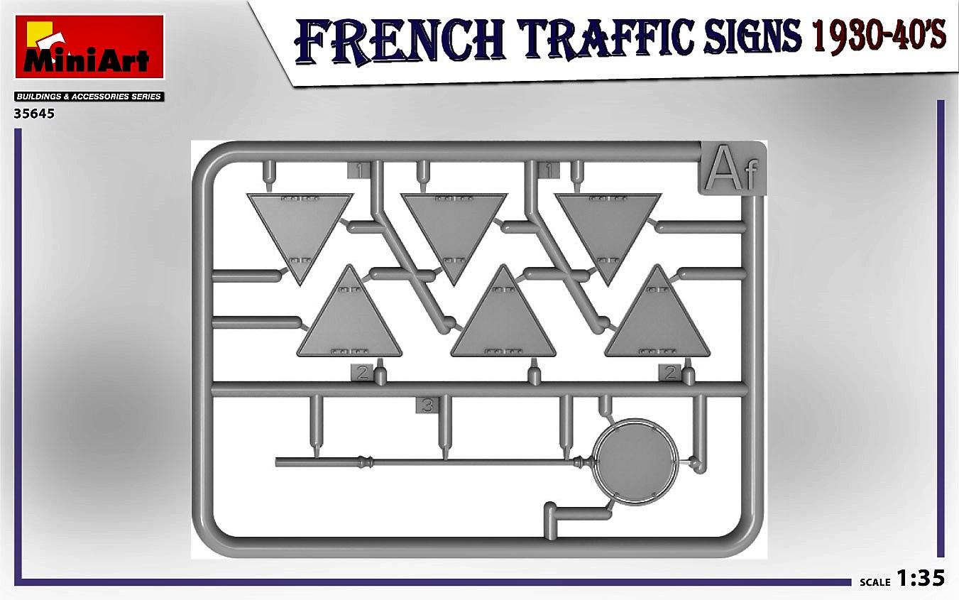 MIniArt-35645-FRench-TRaffic-signs-4 French Traffic Signs in 1:35 von MiniArt # 35645