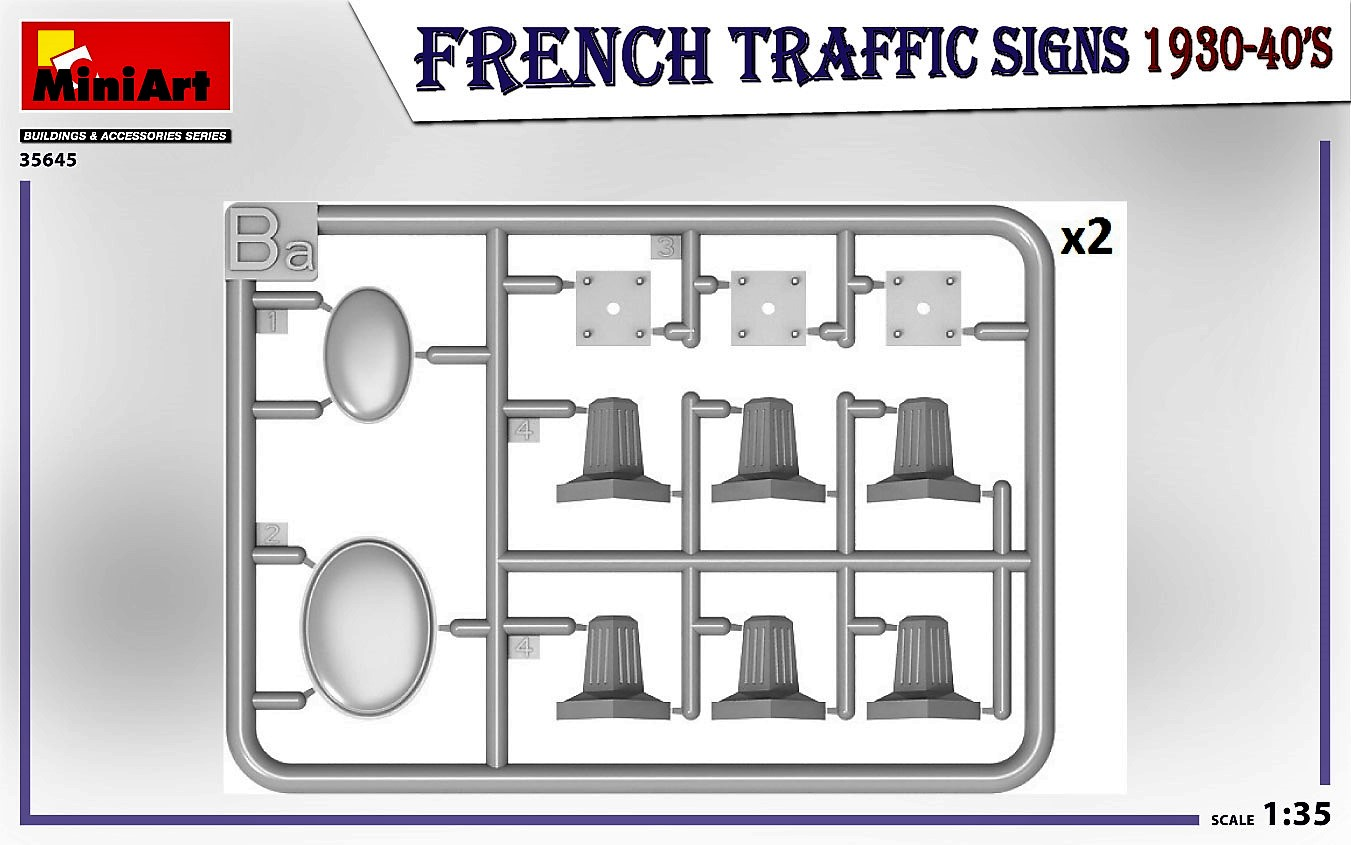 MIniArt-35645-FRench-TRaffic-signs-5 French Traffic Signs in 1:35 von MiniArt # 35645