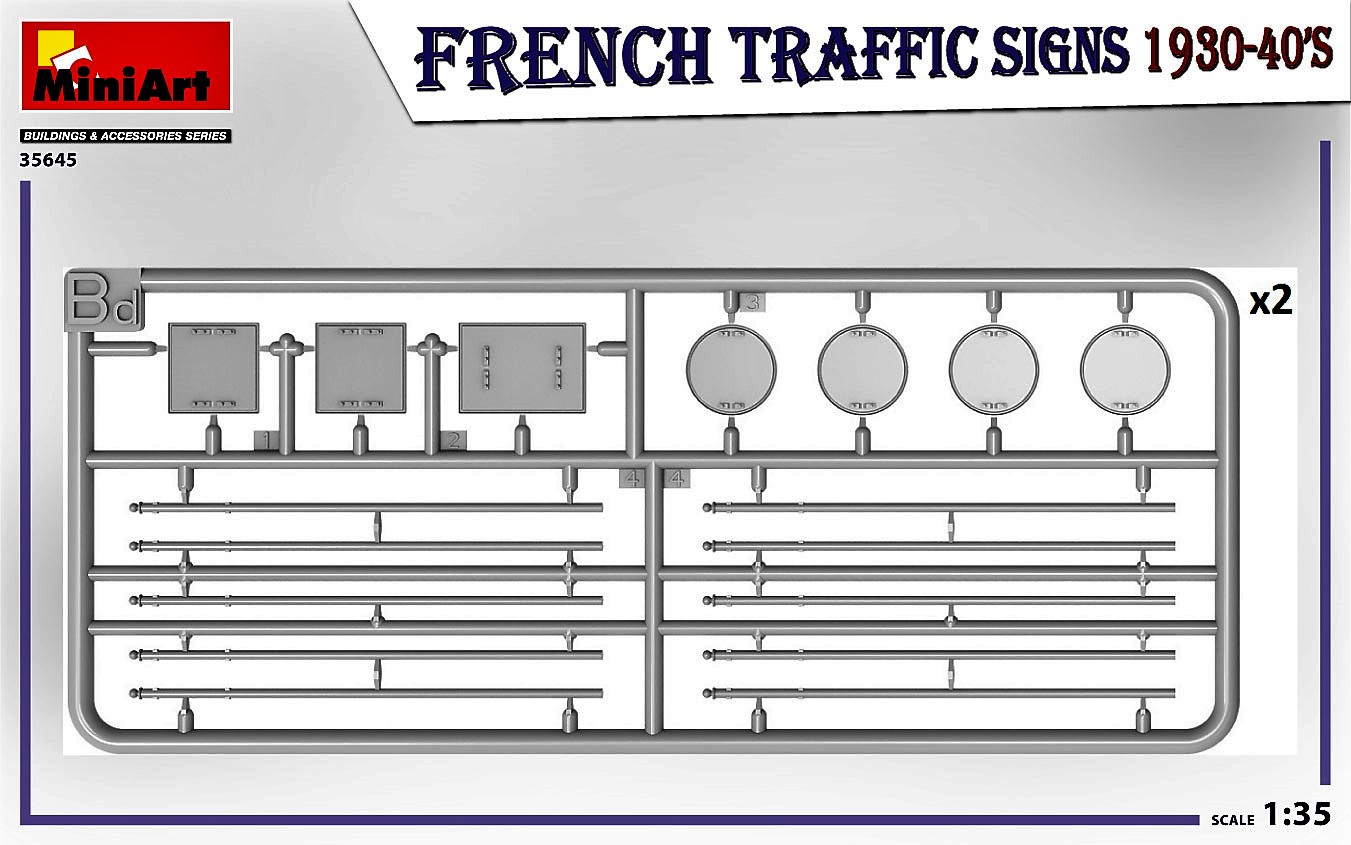 MIniArt-35645-FRench-TRaffic-signs-6 French Traffic Signs in 1:35 von MiniArt # 35645