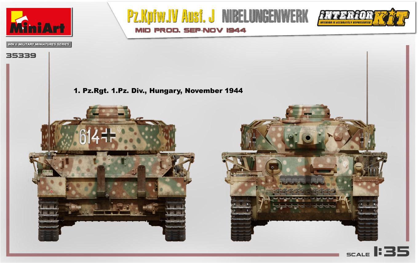 MiniArt-35339-Pz.-IV-10 Ankündigung: Pz. Kpfw. IV Ausf. J Nibelungenwerk Mid Prod Sep-Nov 1944 1:35 Miniart (#35339)