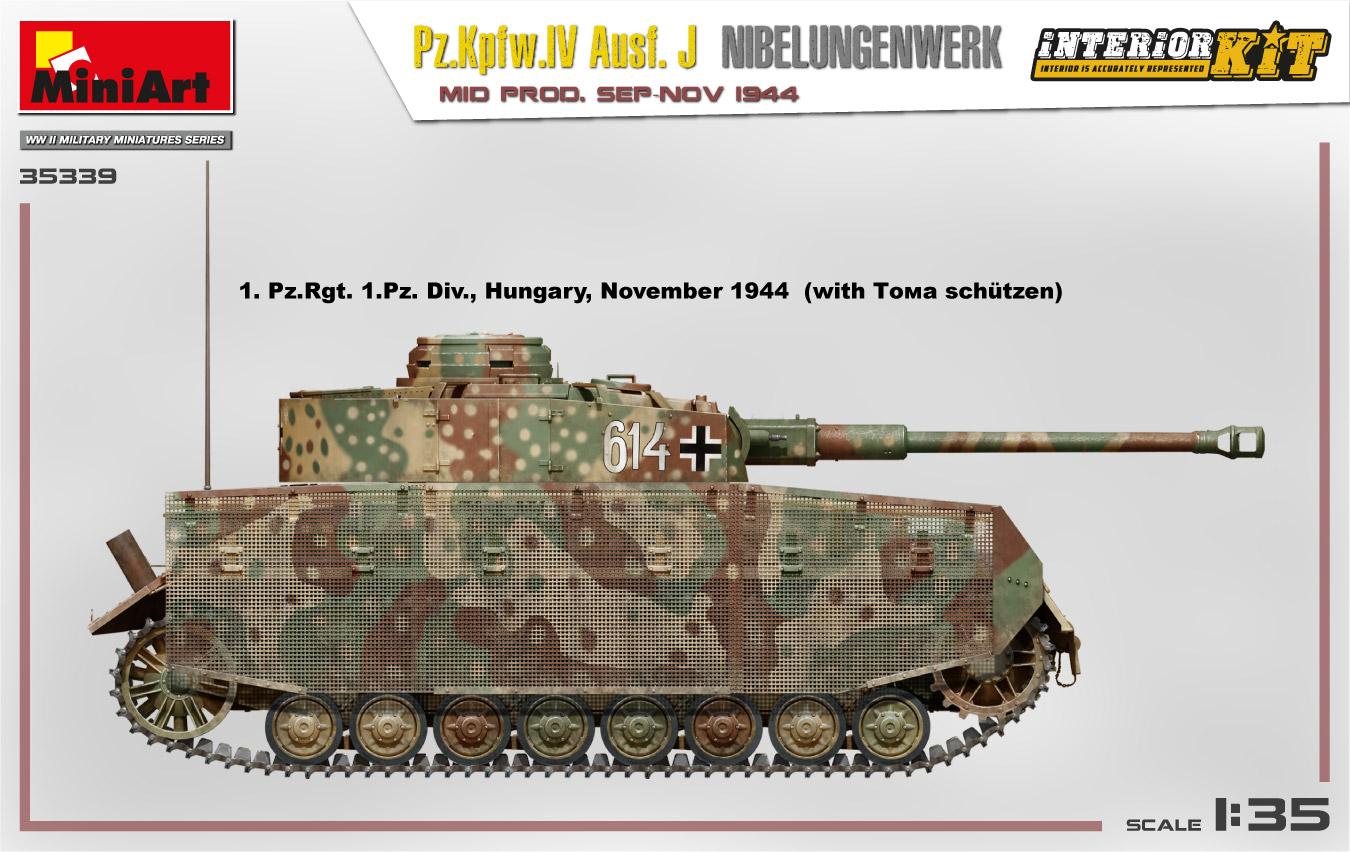 MiniArt-35339-Pz.-IV-11 Ankündigung: Pz. Kpfw. IV Ausf. J Nibelungenwerk Mid Prod Sep-Nov 1944 1:35 Miniart (#35339)