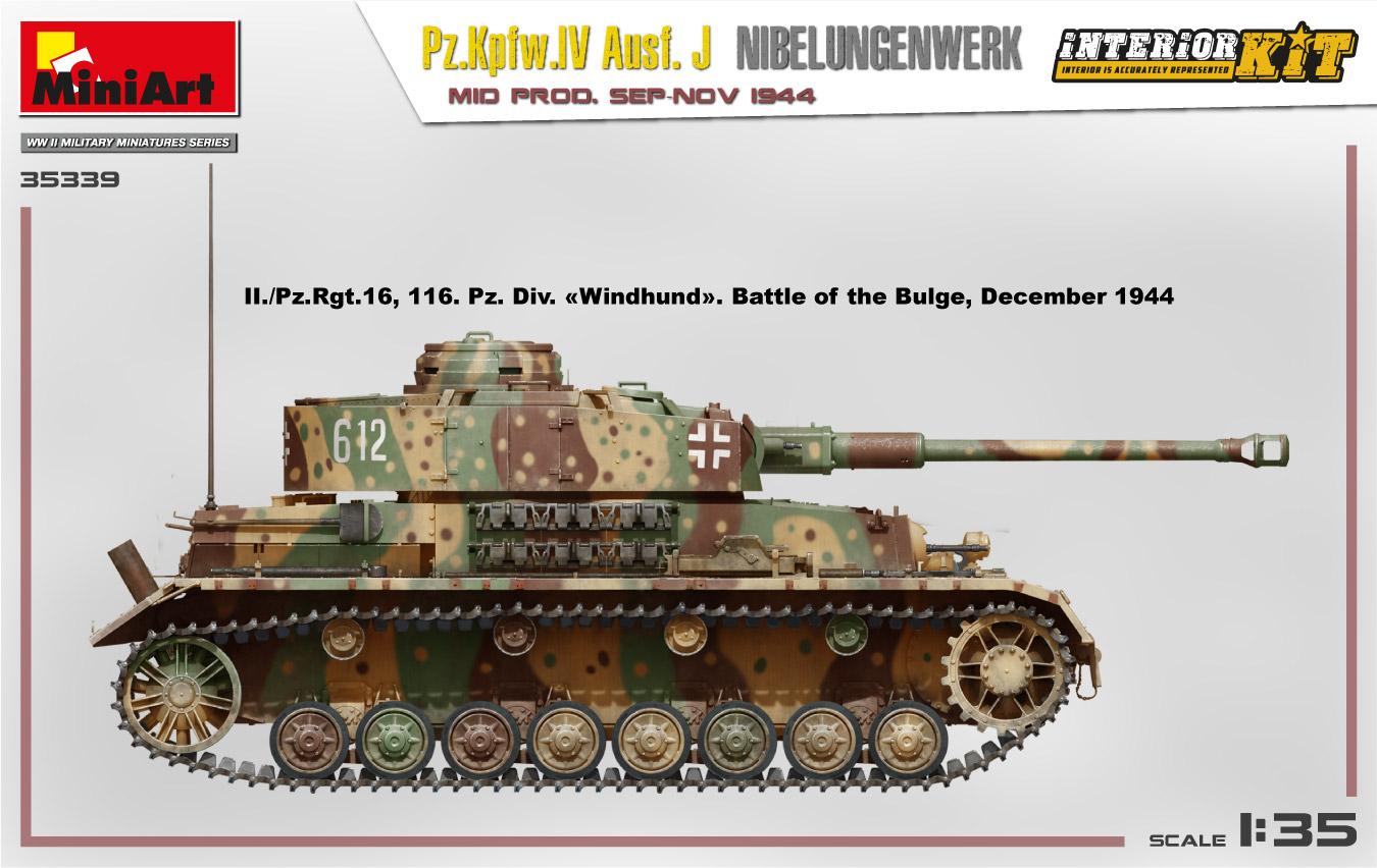 MiniArt-35339-Pz.-IV-13 Ankündigung: Pz. Kpfw. IV Ausf. J Nibelungenwerk Mid Prod Sep-Nov 1944 1:35 Miniart (#35339)