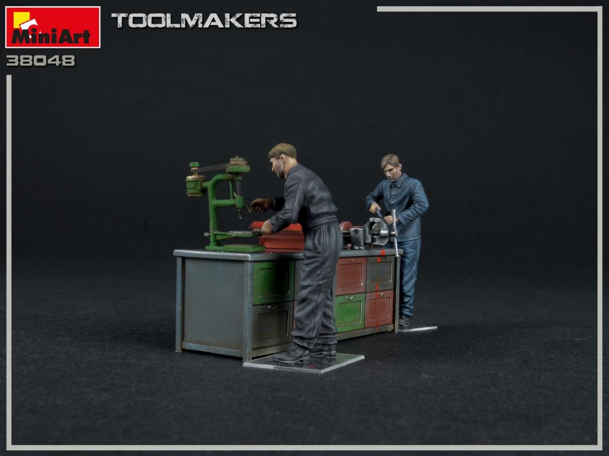 MiniArt-38048-Toolmakers-4 Toolmakers in 1:35 von MiniArt #38048